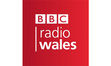 BBC radio Wales written on a red background