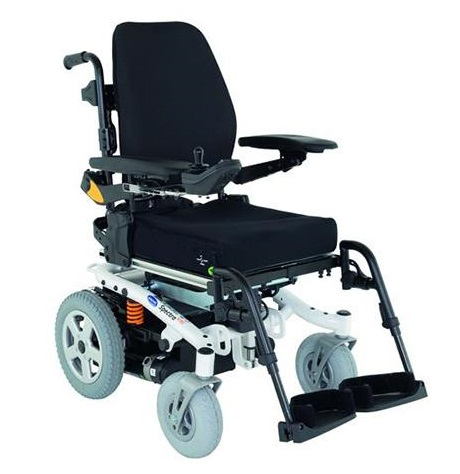 """NHS Wheelchair Service: Is Yours """"Fit For Purpose""""? NHS wheelchair service supplied Black & white electric wheelchair the Spectra XTR2"""