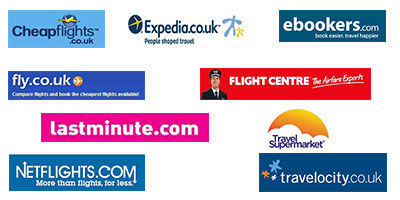 Collage of different travel agents logo's