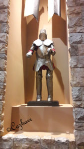 Knights armour statue in the Excalibur hotel