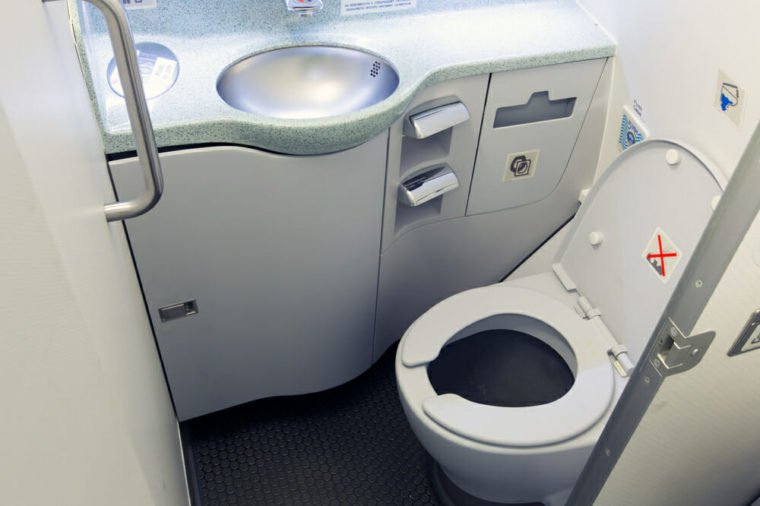 Las Vegas:  My First Time Flying As A Full-Time Wheelchair User -  Plane toilet with side entrance