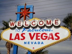 The famous Las Vegas welcome sign