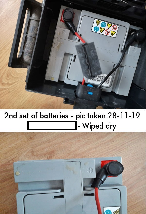 """NHS Wheelchair Service: Is Yours """"Fit For Purpose""""? NHS Supplied electric wheelchair battery showing signs of leaking"""