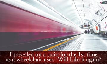 Train speeding through a station