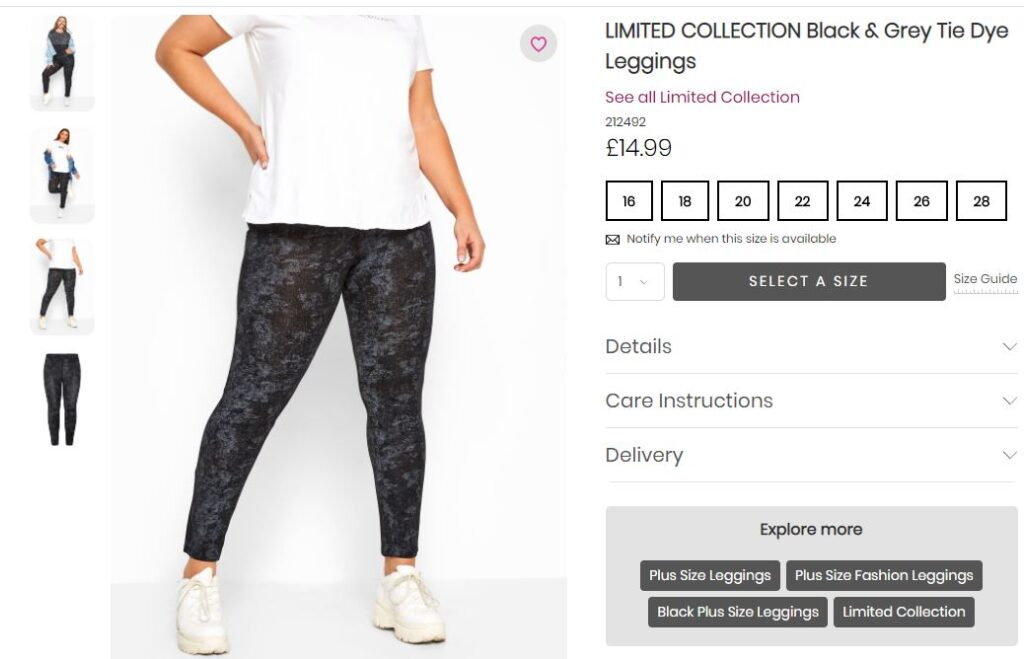 Black and grey coloured tie dye leggings