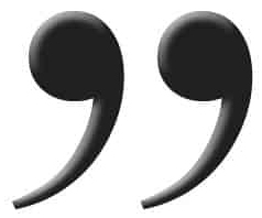 Close quotation marks in black