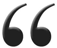 Open quotation marks in black