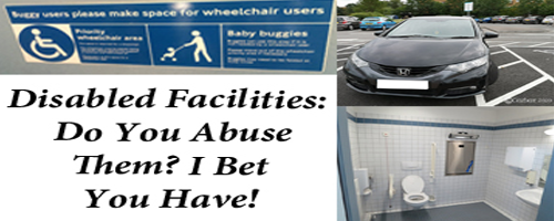 Wheelchair space sign on bus with disabled parking bay