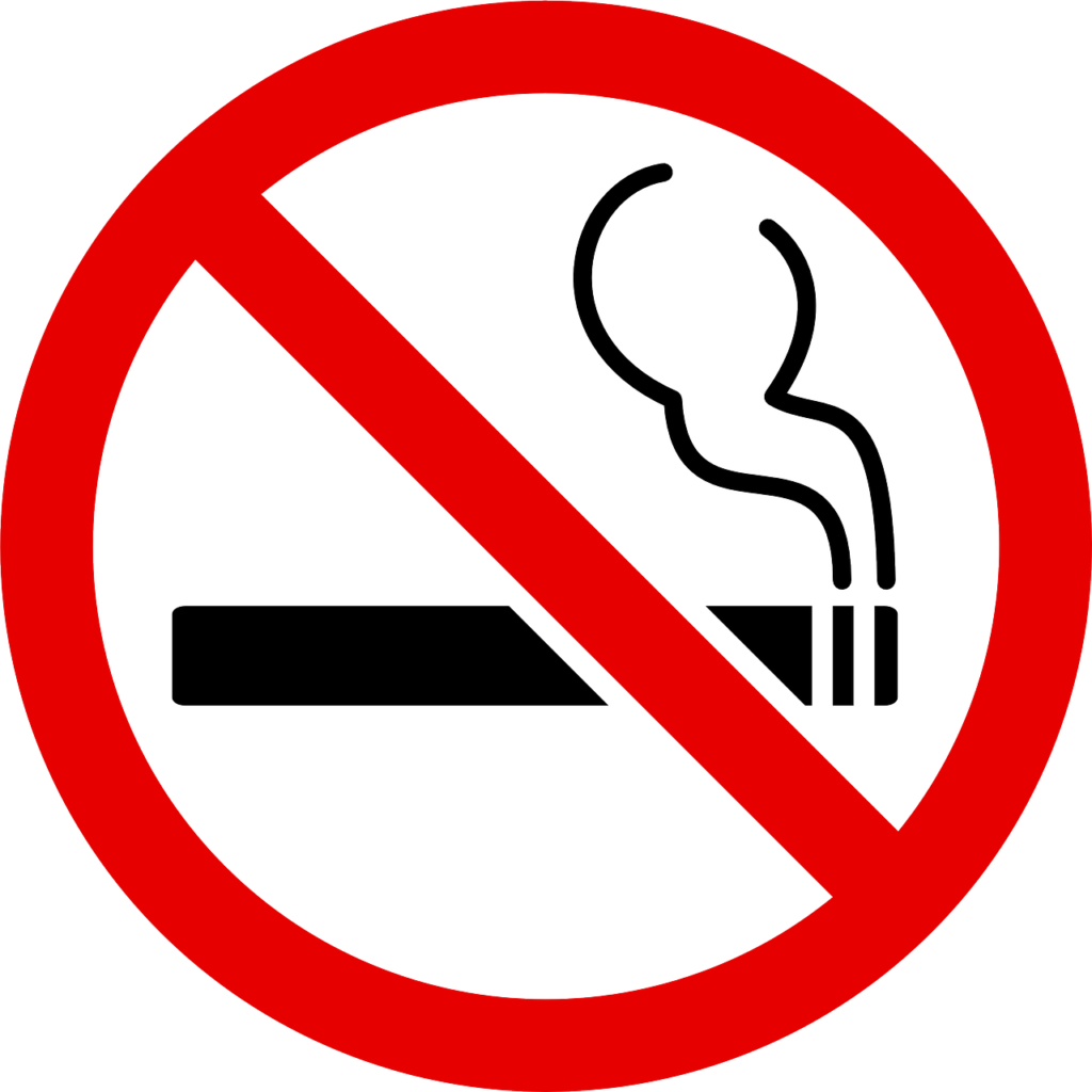Brain Fog:  A Heart Attack Side Effect - No smoking sign
