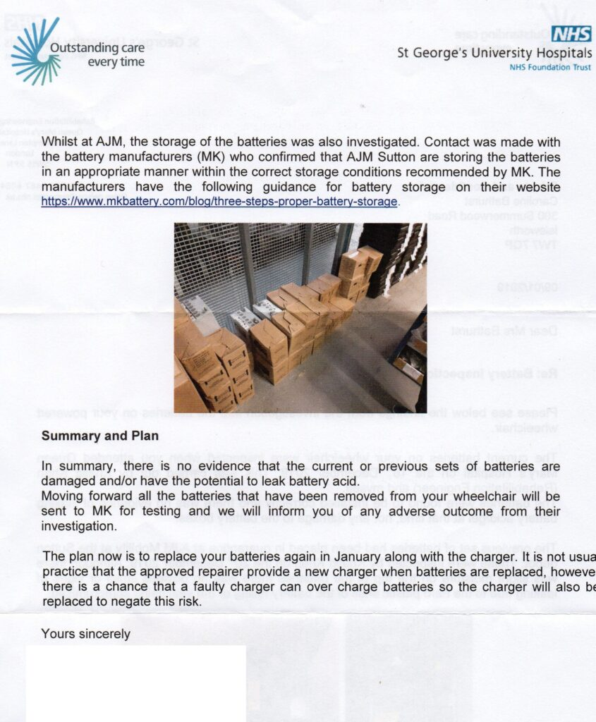 NHS Wheelchair Service/repairers   Is Yours Fit For Purpose? - Second page of inspection report