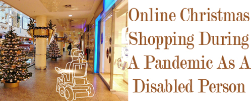 White outlined wheelchair in shopping mall