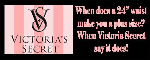 Victoria Secrets logo asking if 24 inch waist is plus size?
