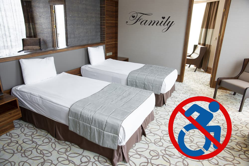 Family room not accessible to disabled families